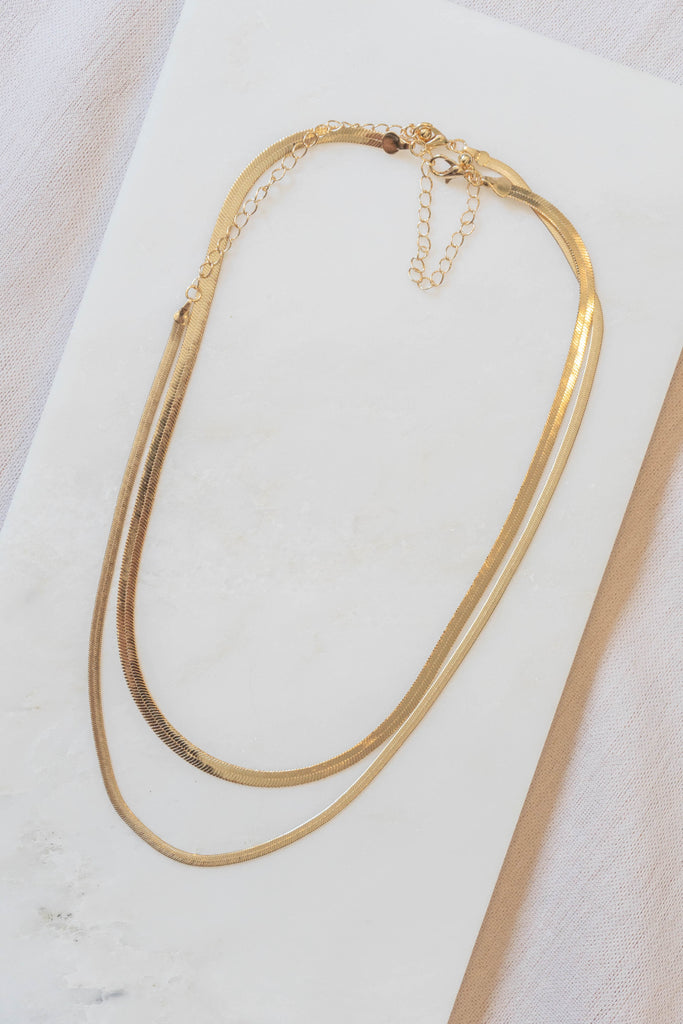 Two Layered Herringbone Necklace