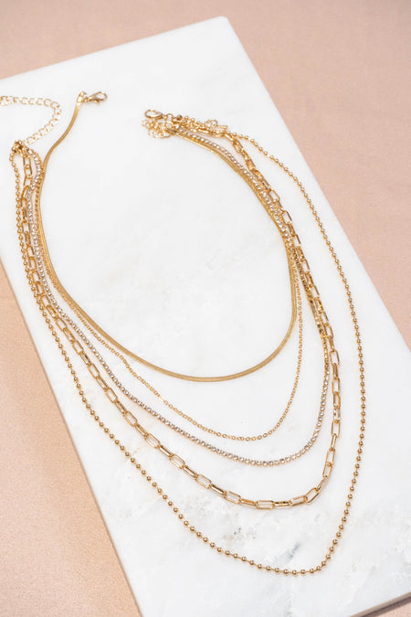 Dainty 3 Chain Circle Necklace