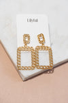 Chain Link Square Earrings