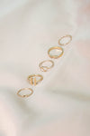 Assorted Delicate Ring Set