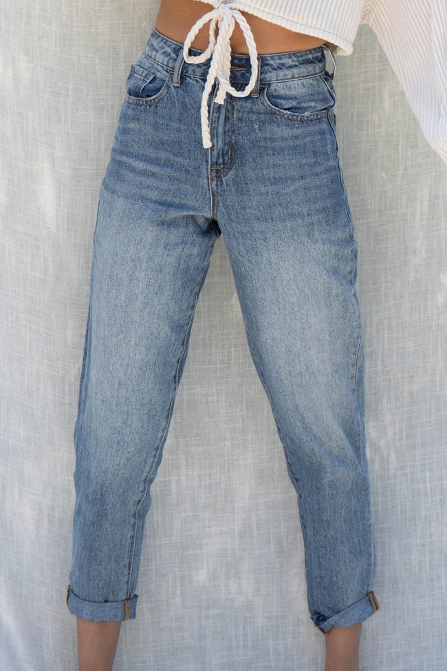 Rolled Up Tapered Boyfriend Jean