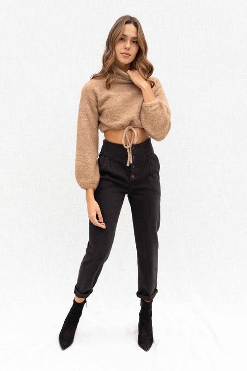 Mel Turtleneck Crop Sweater