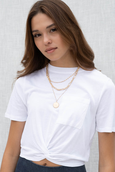 Chain Layered Disc Necklace
