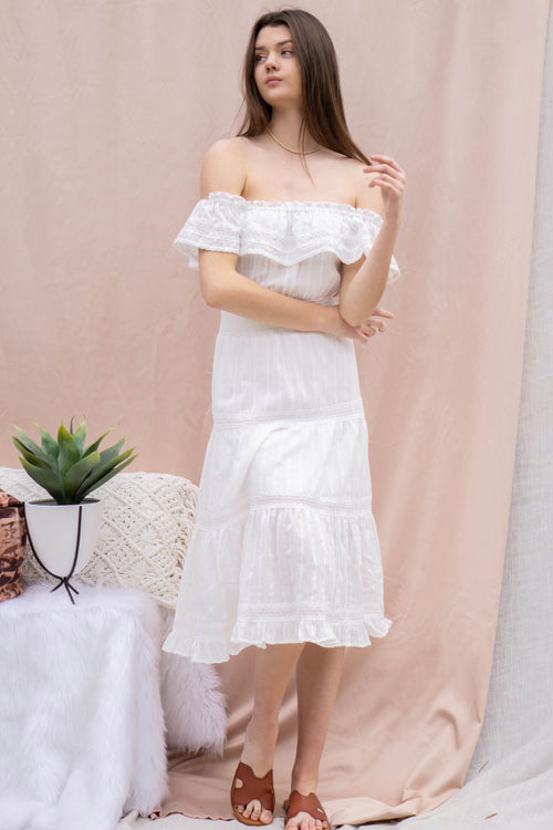 Melody Off Shoulder Tiered Dress