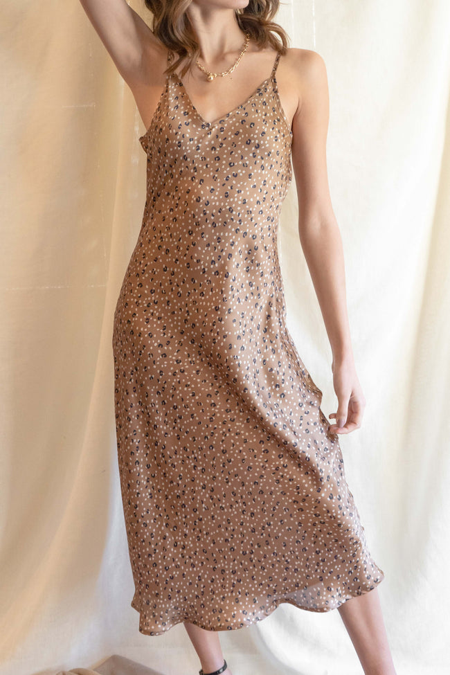 Penelope Leopard Slip Dress