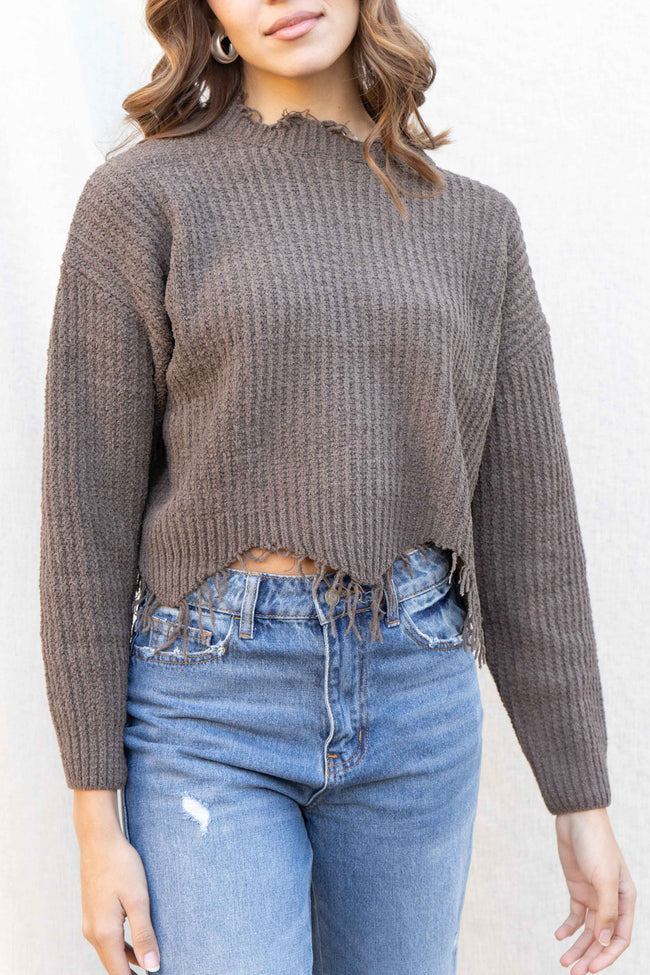 Alice Raw Edge Cozy Sweater