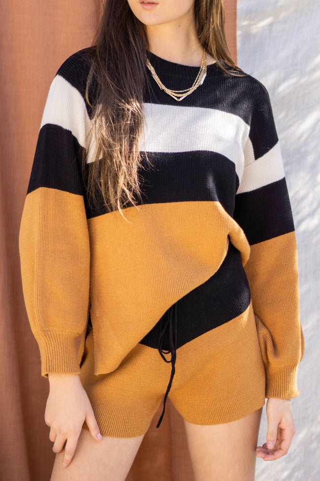 Lina Color Block Sweater