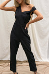 Aria One Shoulder Drape Jumpsuit
