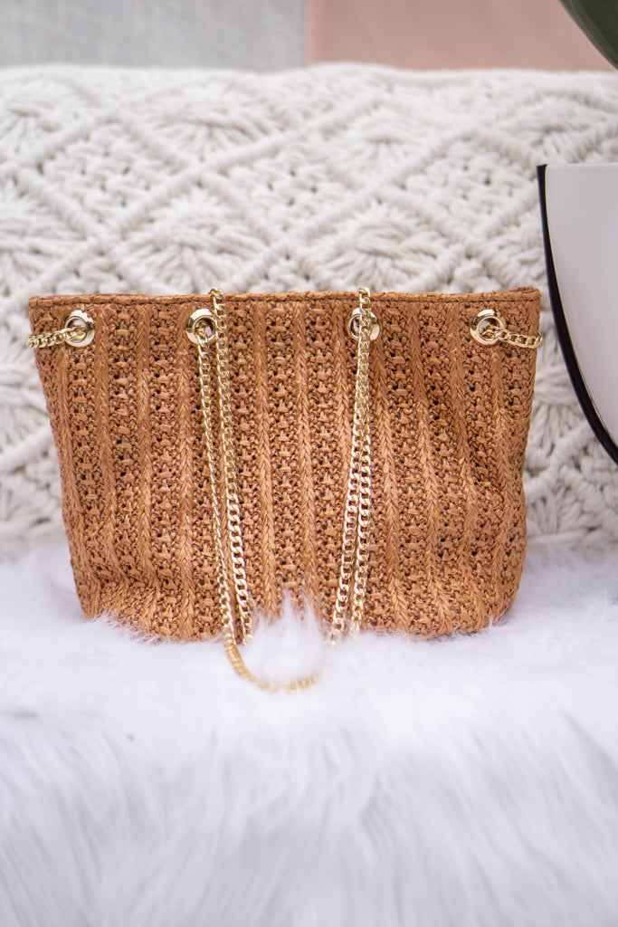 Straw Bucket Bag