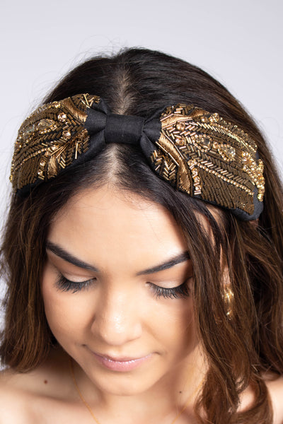 Thin Beaded Cloth Headband