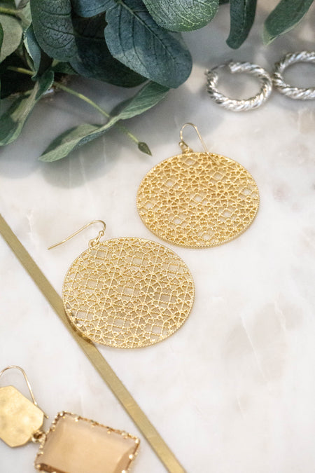Textured Metallic Hoop Earrings
