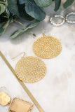 Circle Textured Earrings