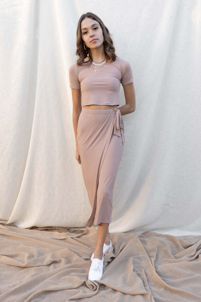 Tessa Wrap Tie Skirt Set