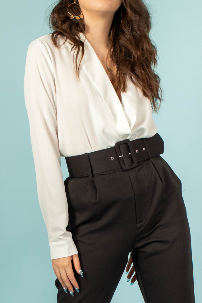 Victoria Long Sleeve Collared Bodysuit
