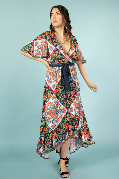 Havana Nights Printed Floral Dress