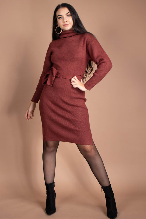 Sarah Turtle Neck Midi Dress
