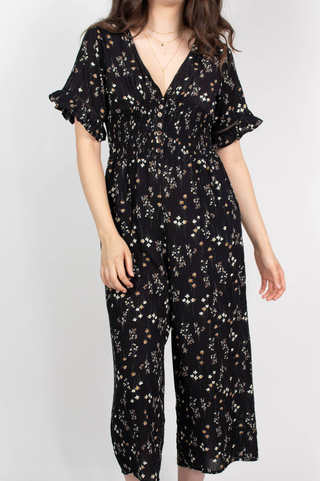 Fall Floral Flowy Jumpsuit