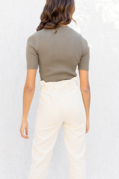 Riley High Neck Rib Top