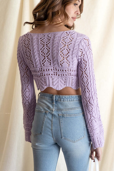 Leah Crochet Crop Top