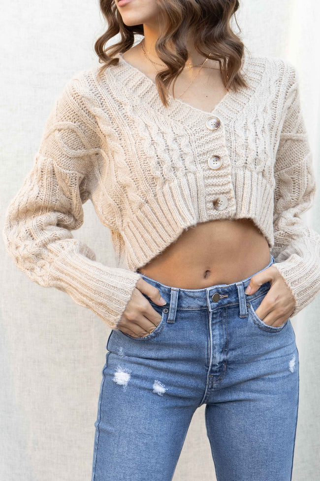 Amanda Cable Knit Cardigan