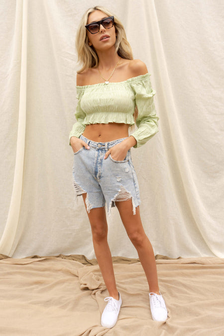 Nadine Lace Up Crop Top