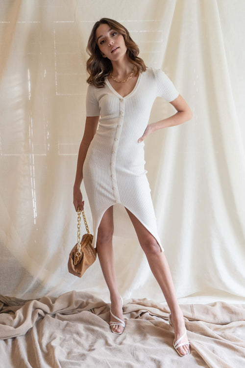 Eliana Ribbed Midi Dress