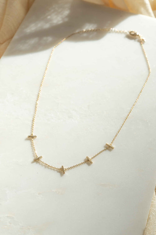 Dainty Mini Bars Necklace