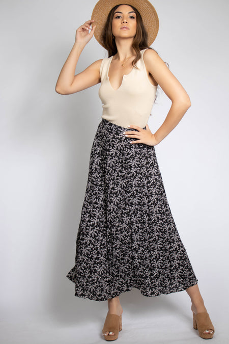 Playa Polka Dot Maxi Skirt