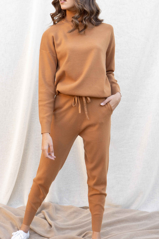 Pumpkin Spice Turtleneck Set