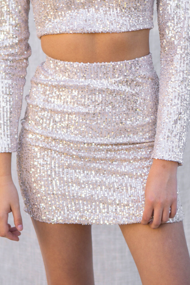 Night Out Sequins Skirt