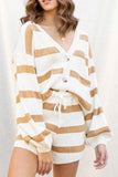 Downtown Stripe Cardigan Set