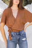 Brushed Knit Belt Top