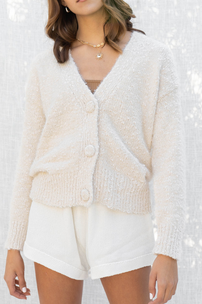 Danielle Big Button Cardigan