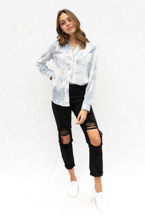 Ally Tie Dye Long Sleeve Blouse