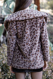 Dark Leopard Long Sleeve Coat