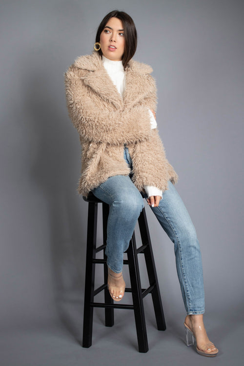Winter Faux Fur Collared Coat