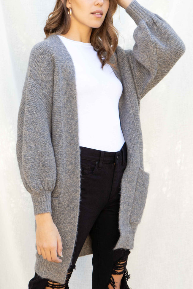Cozy Balloon Sleeve Cardigan