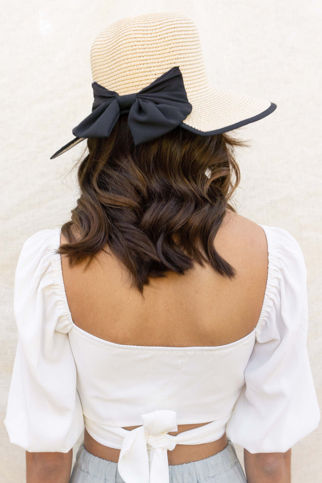 Island Big Ribbon Straw Hat