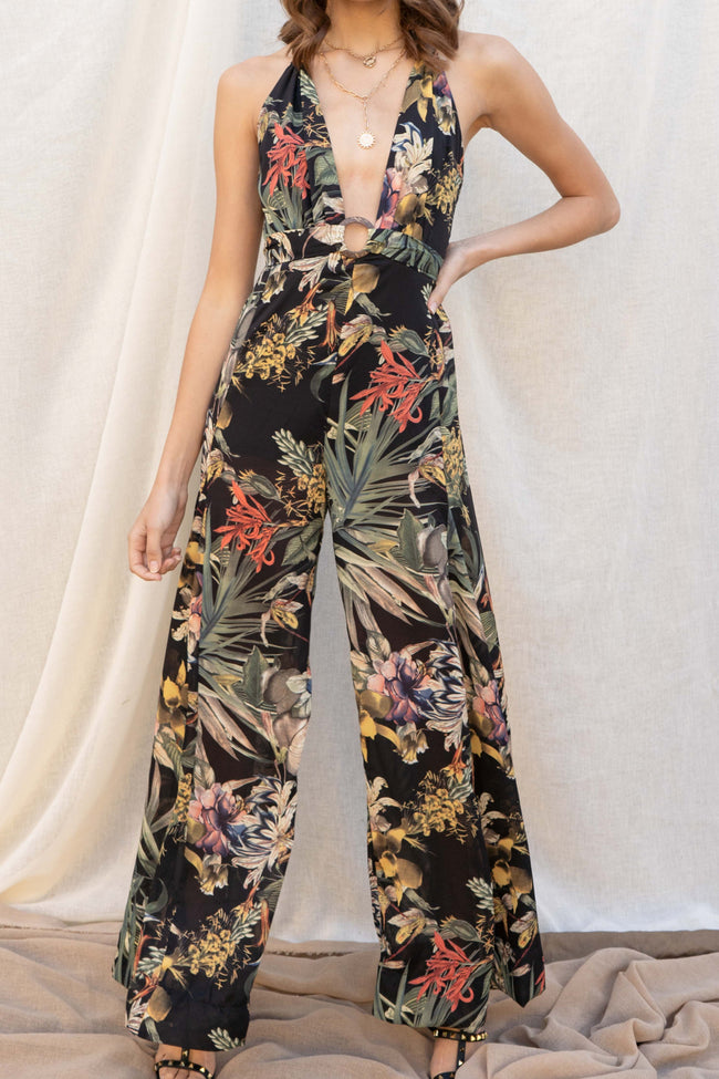 Tropical Tie Jumpsuit