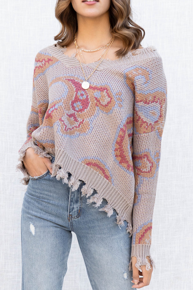 Fall Vibes Paisley Sweater