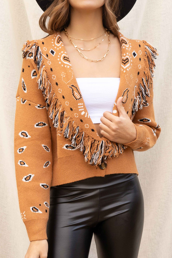 Savanna Fringe Collar Cardigan