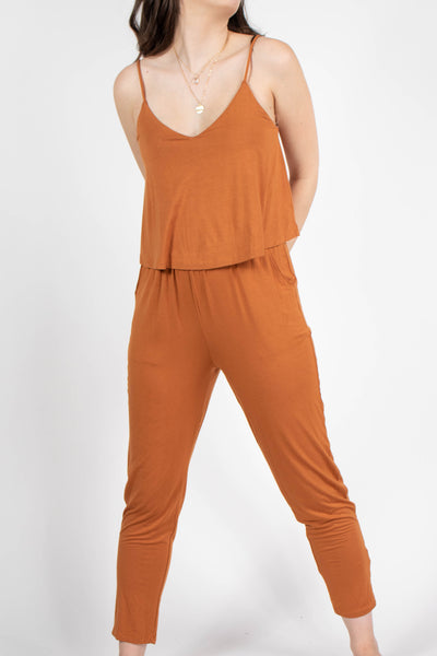 Audrey Layered Top Jersey Jumpsuit