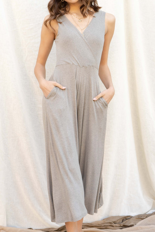 Fav Vneck Knit Jumpsuit