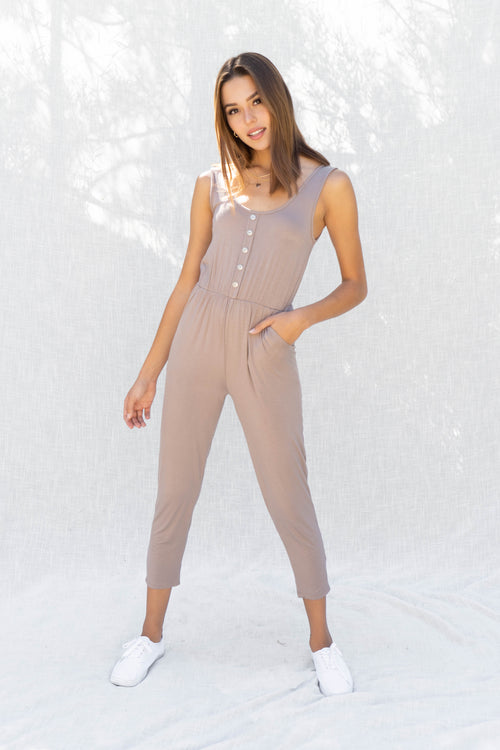 Madison Jersey Knit Tank Jumpsuit