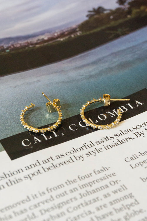 Mini Studded Hoop Earrings