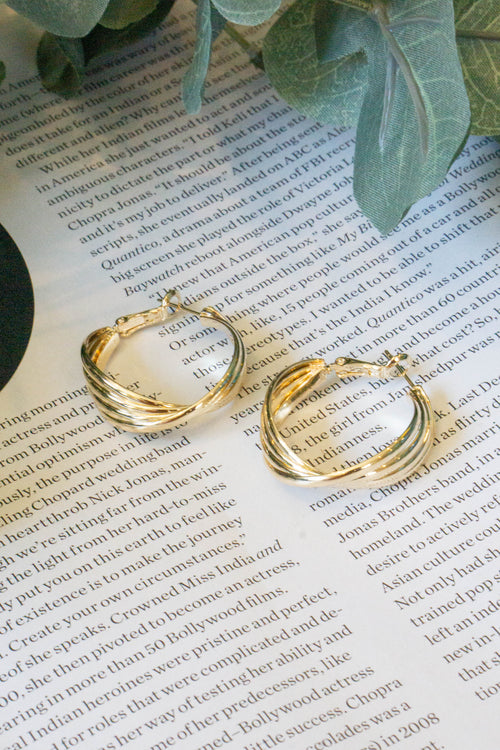 4lne Twist Hoop Earrings