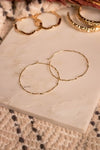 Wire Hoop Twist Earrings