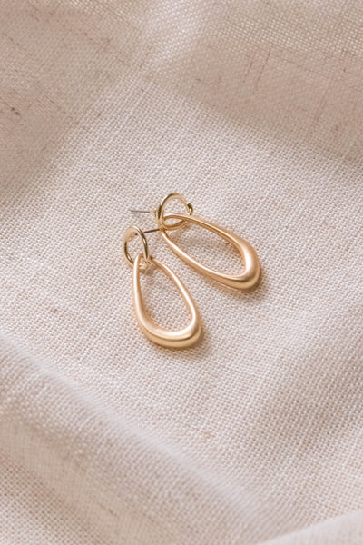 Warped Oval Drop Earrings