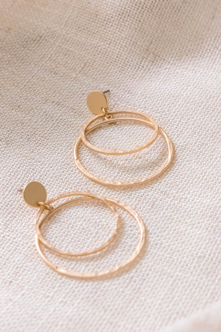 Small Baguette Hoop Earrings