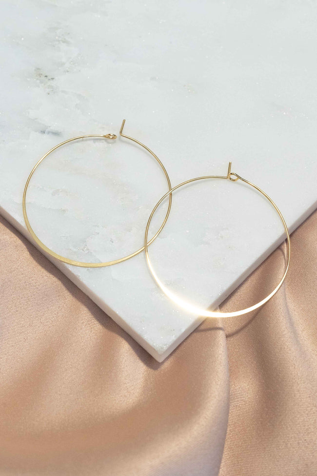 Essential Thin Metal Hoop Earrings